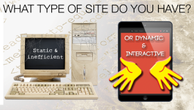 What type of website do you have, static and inefficient or dynamic and interactive?